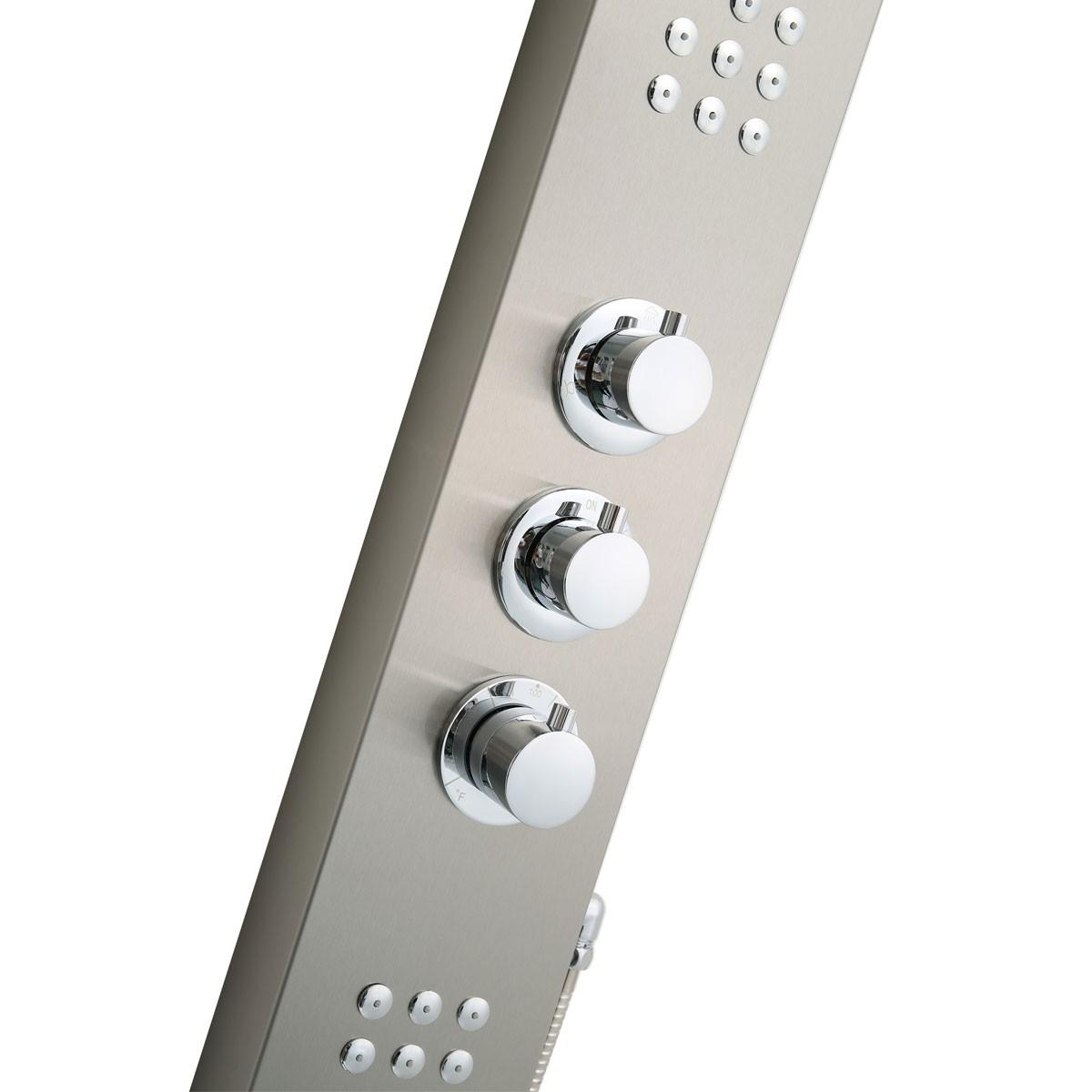 Lesscare Modern Shower Panel System W Massage Jets