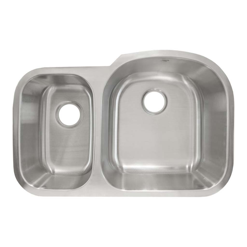 LESSCARE L-201-L UNDERMOUNT STAINLESS STEEL DOUBLE BOWL KITCHEN SINK ...
